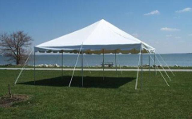 Where to find FOR SALE TENT 15X15 POLE WHITE in Stevens
